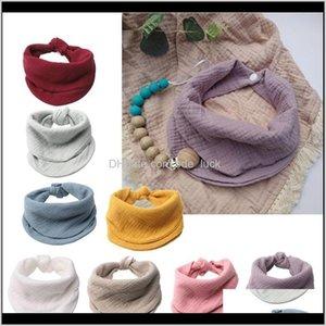 Feeding Baby, Kids Maternitygauze Baby Bibs Born Burp Cloth Bandana Toddler Scarf Infant Saliva Towel H05C & Cloths Drop Delivery 2021 Dm0Oi