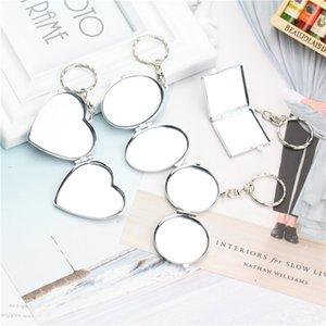 Mini Makeup Mirror Key Rings for Women Multifunctional Travel Portable Novelty Lip Keychains jewelry Bag Pendant Holder Gift Kimter-P65FA