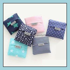 Housekee Organization Home & Gardeneco Friendly Storage Handbag Foldable Usable Shop Bags Reusable Portable Grocery Nylon Large Bag Pure Lx1