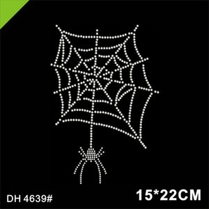Wholesale Special Custom Design Spider Pattern Rhinestone Transfer for Clothing4639