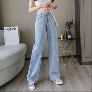 Women Jeans Pants Womens Leisure Loose High Waist Vintage wide leg Casual Streetwear Fashion Harajuku Straight Trousers