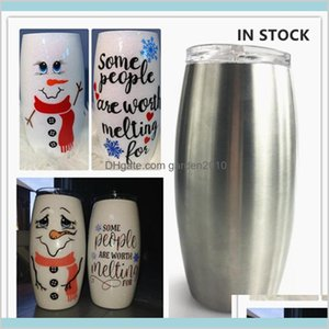 Mugs Drinkware Kitchen, Dining & Bar Home Garden Diy 25Oz Snowman Tumbler Football Tumblers Stainless Steel Egg Cup Vacuum Insulated W