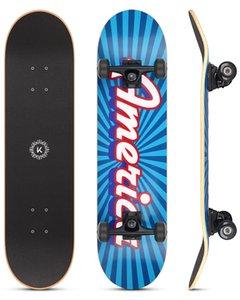 Skateboarding Drapeau de la lumière Bonne poignée et conduite en douceur résistant aux chocs 95A Rebound Roues PU, Roulements en acier au carbone ABEC-9
