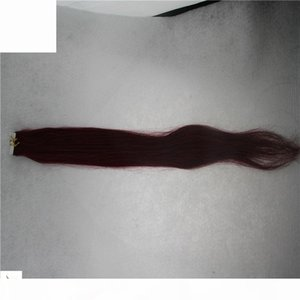 2.5g pc Tape in Human Hair Extensions Non-Remy Straight Hair Extensions on PU Tape Invisible Skin Weft 40 Pieces