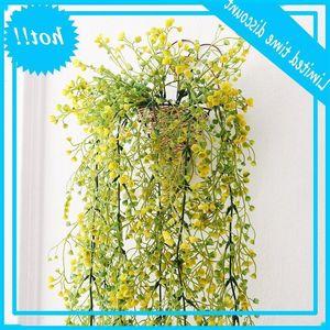 1PC Wedding Nodic Home Indoor Hotel Desktop Decoration Fern Money Leaf Plants Fake Plastic Hanging Plant Leaves