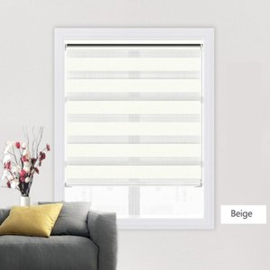 Blinds Transparent Stretch Dustproof Double-Layer Shading Window Roller Bedroom Study Home Decoration