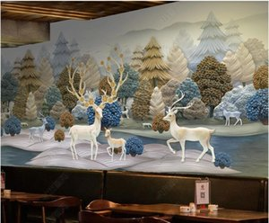 WDBH 3d wallpaper custom photo mural European retro forest elk animal in the living room home decor 3d wall murals wallpapers for walls 3 d