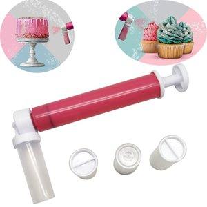 Pastry Tools Bakeware Baking Decoration Tool Cake Dusting Spray Tube Manual Gun Airbrush For Decorating Coloring