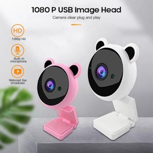 Camcorders Pink USB Webcam Focus Night Vision 2MP HD 1080P Computer Web Camera For Live Broadcast Autofocus In Mic Video PC Laptop