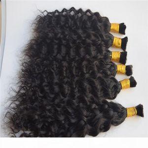 Human Hair Bulk No Attachment Cheap Brazilian Natural Wave Hair in Bulk Hair for Braiding No Weft 3 Bundles Deal