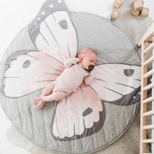 INS Play Mats Kid Crawling Carpet Floor Rug Baby Bedding Butterfly Blanket Cotton Game Pad Children Room Decor 3d rugs AHU5 QWCP