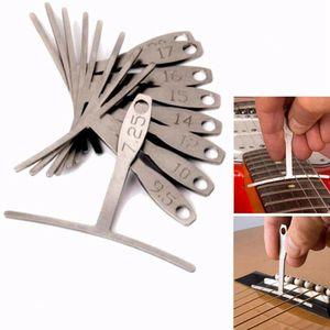 9pcs Stainless Steel Understring Radius Gauge For Guitar Bass Setup Luthier Tool