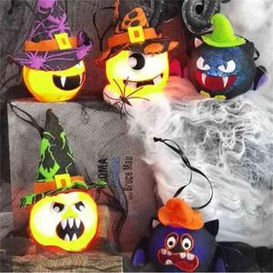 LED Halloween pumpkin ghost lantern vampire bat light cartoon lamp toys home garden yard lights ball window door tree ornament layout party Kids Room Decor G83DDKQ