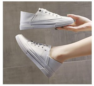 spring here buy two colors women Thick sole leather white black color shoes summer casual board shoes