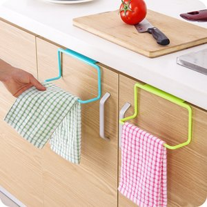 Towel Rack Hanging Holder Organizer Bathroom Cupboard Kitchen Cabinet Door Back Hanger Shelf