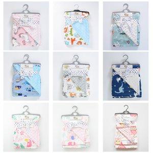 Baby Held in Autumn and Winter, Baby Blanket, Printed Coral Velvet Air Conditioner, Doudou Children's Blanket