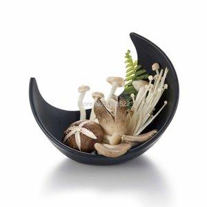 Блюда тарелки имитация фарфоровой пластиковый меламин глубоко салатная чаша бытовая китайская посуда полумесяца