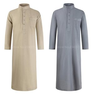 Ethnic Clothing 2021 Middle East Men Muslim Fashion Jubba Thobe Abaya For Solid Pakistan Arabic Islamic Dress Long Robe Male Turkey