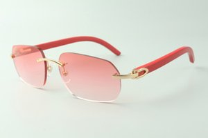 Direct sales designer sunglasses 3524024, red wooden temples glasses, size: 18-135 mm