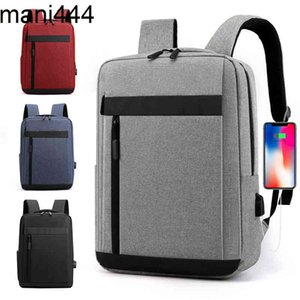 2021 new versatile backpack fashion personality large capacity schoolbag men's trend pure color business