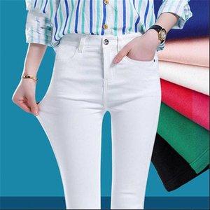 Denim Skinny Stretch Womens Jeans High Waist Pencil Spring Pants Slim Thin Ladies Trousers