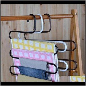 & Racks S Shape Metal Hanger For Pants Magic Multi-Layer Cloth Hangers Ayi5T Sizmr
