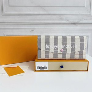 EMILIE leather wallet women long purses credit card Holder Classic Style brand Clutch bags 2021