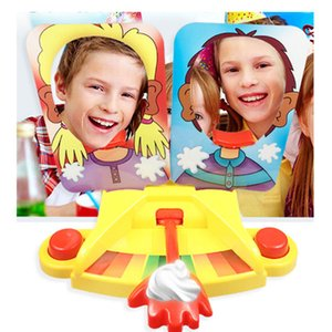 Shocker toy Cake Cream Pie In The Face Family Party Fun Game Funny Gadgets Prank Gags Jokes Anti Stress Toys For Children