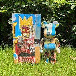 Quente 400% 28cm Bearbrick O ABS O robô Moda Bear Chiaki Figuras Brinquedo Para Colecionadores Seja @ RBrick Art Work Modelo Decoração Brinquedos Presente