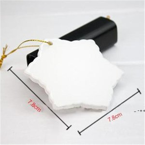 Sublimation Blank Ceramic Pendant Creative Christmas Ornaments Heat Transfer Printing DIY Ceramic Ornament 9 Styles Accept FWF11110