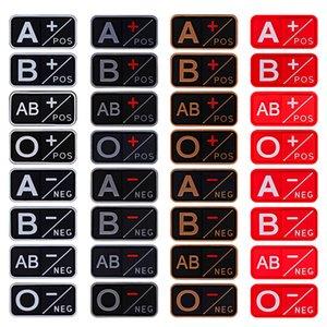 3D Blood Type Group Patches Tactical PVC Rubber Badges NEG Positive Negative Patch