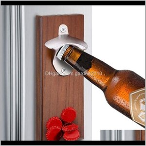 Openers Bottle Wall Mounted Rustic House Decor Can Wooden Opener Beer Magnet Kitchen Tools Bar Accessories Party Gifts 201211 Nigpe Xs6Jp
