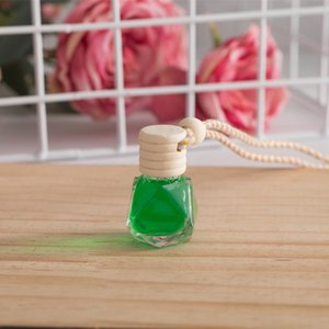 8ML Wooden Car Perfume Empty Bottle Aromatherapy Essential Oil Bottle Hanging Air Freshener Diffuser NHA5280