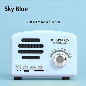Portable Speakers MOVER Retro Bluetooth Speaker Mini Wireless Radio USB TF Card Music Player Box