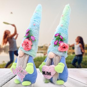 2021 Mother's Day Handmade Faceless Doll Plushed Cartoon Dwarf Blue Hat Rudolph Love You Mum Plush Dolls Gnome Party Gifts Decors