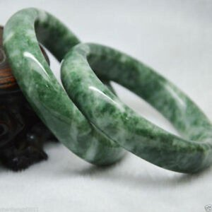 Beautiful 62mm Natural Chinese Jade Hand-carved Bracelet Free Box+certificate Bangle