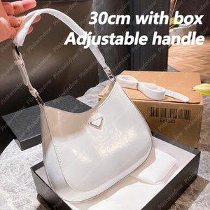 Hobo Bag 30 cm Womens Shoulder Bags Handbag Women Luxurys Designers Bags Backpack Totes Cleo Brushed Leather Designer Wallet 2104201L