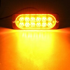 Chegada 2 * Âmbar 12 LED 36W luz barra de carro caminhão de carro perigo Beacon advertência Acessórios de lâmpada por atacado entrega rápida luzes de emergência