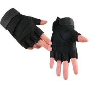 gloves Black Hawk Half Finger for men and women outdoor riding training driving antiskid fitness sports army fans combat tactical