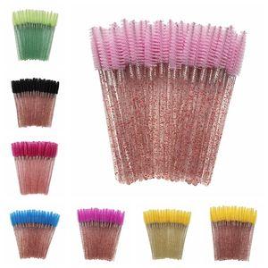 Other Household Sundries Shiny Eyelash Brush Disposable Eyebrow Brushes Mascara Wands Applicator Comb Grafting Beauty Makeup Tool Lash Curling ZWL283