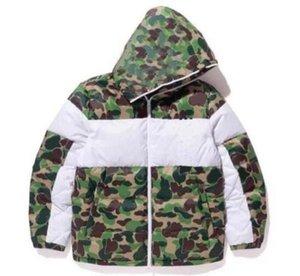 Camouflage Menseurs de conception Mens pour hommes Camouflage Down Vestes Manteau avec motif Mens Parkas Trend Letter Impression Streetwear S-3XL