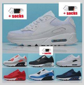 Air 2021 Max 90 Классические дизайнеры Обувь AIRS Rection Blue Мужские Женщины Runnings Trawles Белый Красный Оливковый Черный Вольт Спортивные тренажеры 90-х годов Тапки