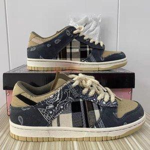 Dunk SB Travis Scotts кроссовки в США складские кроссовки высочайшего качества мужчины женщин размером 38-45 с половиной
