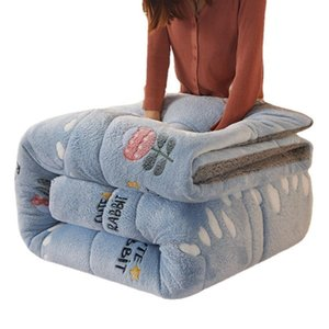 Comforters & Sets Lamb Wool Soft Warm Comforter Winter Thickened Keeping Quilt King Queen Full Size Spring Autumn Blanket