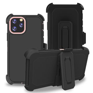 Defender Belt Clip Cell Phone Cases for iPhone 12 Mini 11 Pro Max XR XS-Max 6S 7G 8 Plus Samsung A52 A32 LG Stylo 7 6 Aristo 5 K31 K51 Tripl