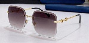 Kadınlar için Moda Tasarım Güneş Gözlüğü Kare Metal Çerçevesiz Kesim Şeker Renkli Lensler Klasik Basit Ve Cömert Stil Açık UV400 Koruyucu Gözlük En Kaliteli