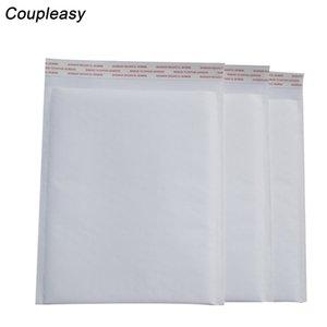 100pcs Wholesale White Bubble Envelope Waterproof Bubble Film Bag Kraft Paper Envelope Padded Mailers Shipping Courier Bag 6size