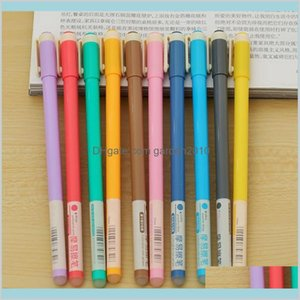 Gel Pens Writing Supplies Office & School Business Industrial Wholesale-10Pcs Multicolor Erasable Pen Unisex 10 Colors Stationery Stud
