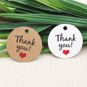 200Pcs Lot 3cm Round Handmade With Love Kraft Paper Tags For DIY Gifts Bag Bottle Price Tags Luggage