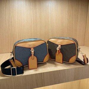 Classic Letter Handbags Brown Flower Grid Print Shoulder Bag Purse Top Quality PU Crossbody Messager Bags Zipper Clutch Designer Handbag 2022